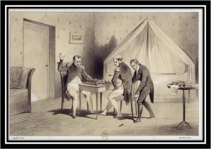 Charles mate l'Empereur, sous les yeux de son aide de camp Lagache