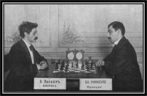La partie Nicolet-Lasker à St Petersbourg en 1909