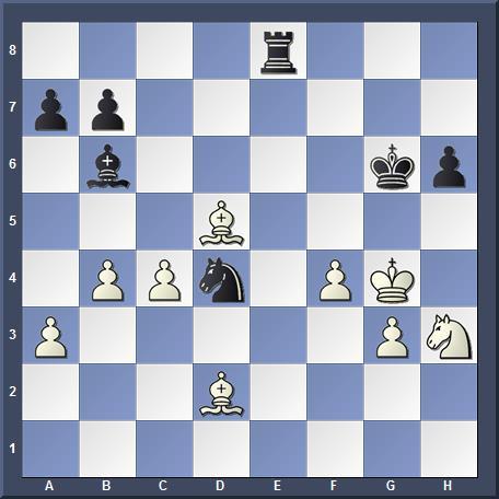 Position après 1...Rg6