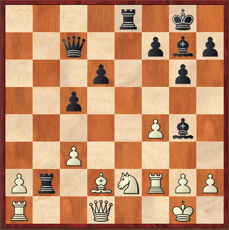 Position après 26.Fd2. Les Noirs jouent et perdent (si si, c'est possible !)