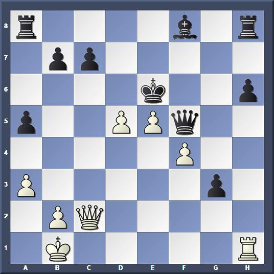 Variante : les Blancs gagnent la dame noire après 26.cxd5+